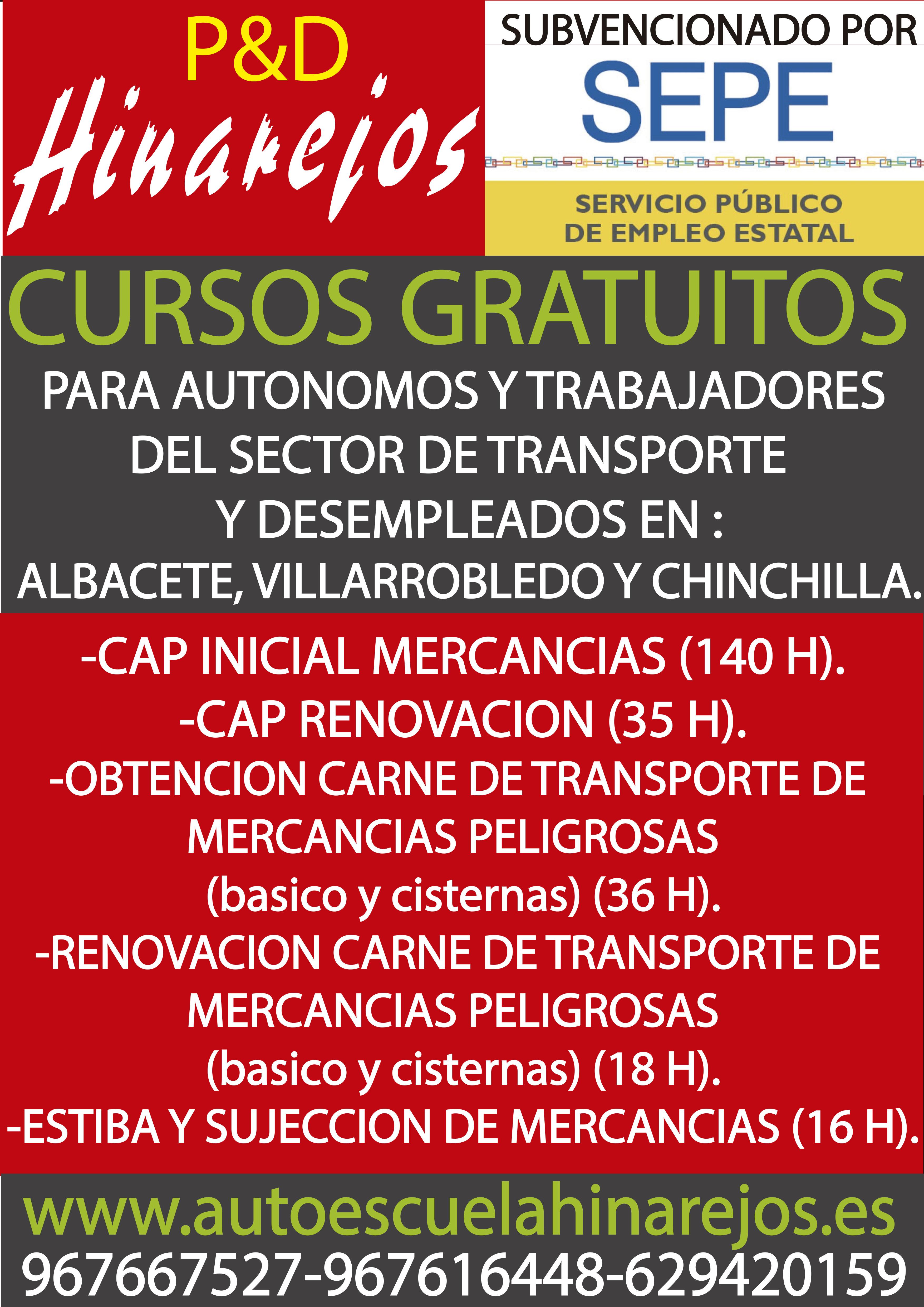 Cursos Gratuitos 2020 Autoescuela Hinarejos